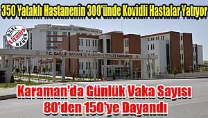 Karaman'da günlük vaka sayısı 80'den 150'ye dayandı