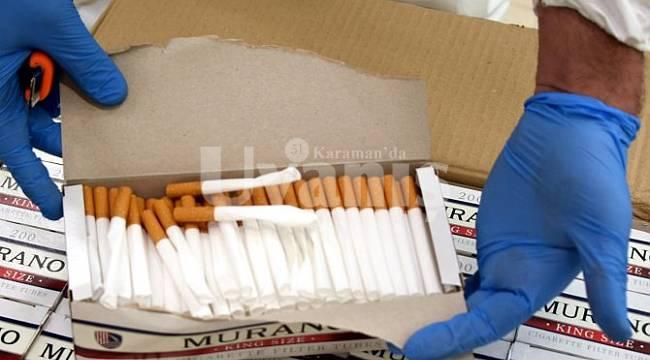 Karaman'da kaçak sigaraya geçit yok