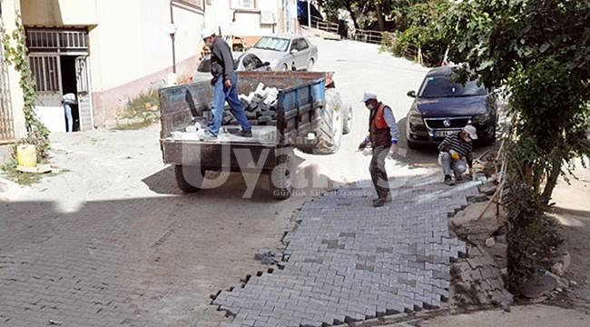 Ermenek'te sokak ve caddelerde bakım çalışmaları devam ediyor