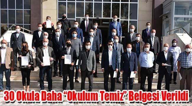 Karaman'da 30 okula daha okulum temiz belgesi verildi