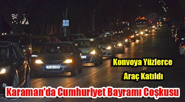 Karaman'da Cumhuriyet Bayramı Coşkusu