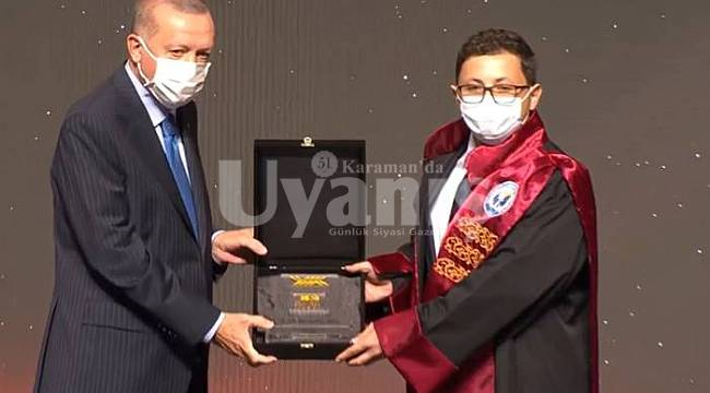 KMÜ Öğretim Üyesine Cumhurbaşkanı Erdoğan'dan YÖK Üstün Başarı Ödülü