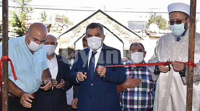 Madenşehri köyü camisi yeniden ibadete açıldı