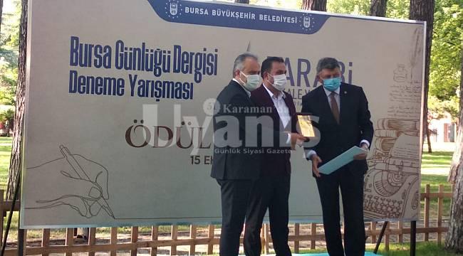 Şair Şaşma'ya Bursa Belediyesi'nden Ödül