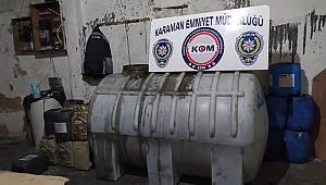 Karaman'da kaçak akaryakıt ele geçirildi