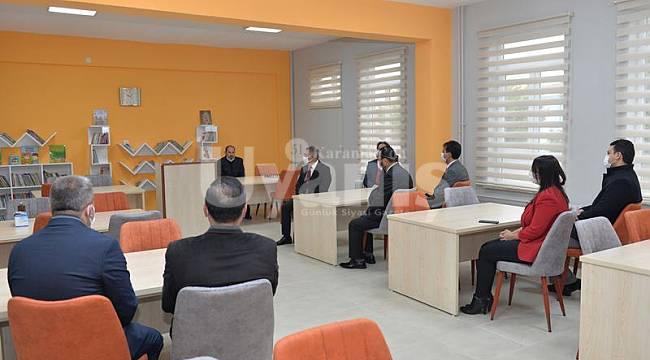 Karaman'da Şehit Birol Öztekin Kütüphanesi Açıldı