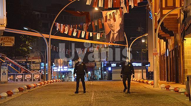 Karaman'da Sokağa Çıkma Kısıtlaması Başladı
