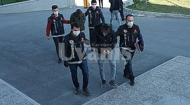Karaman'da uyuşturucu operasyonunda yakalanan 2 kişiden biri tutuklandı