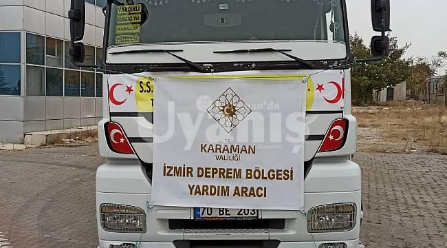 Karaman'dan İzmir'e yardım tırı gönderildi