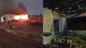 Karaman'da bozkandak köyünde yangın