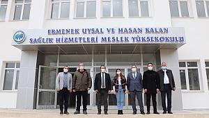 Rektör Akgül, Ermenek Uysal ve Hasan Kalan Sağlık Hizmetleri MYO'yu Ziyaret Etti
