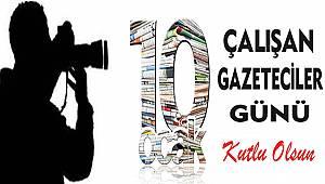 10 Ocak Çalışan Gazeteciler Günü Mesajları