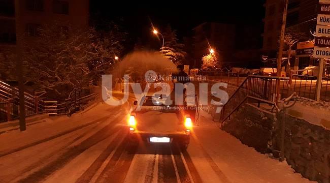 Ermenek Belediyesi'nden Kar Yağışına Anında Müdahale