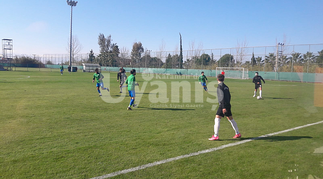 Karaman Belediyespor ilk hazırlık maçını yaptı