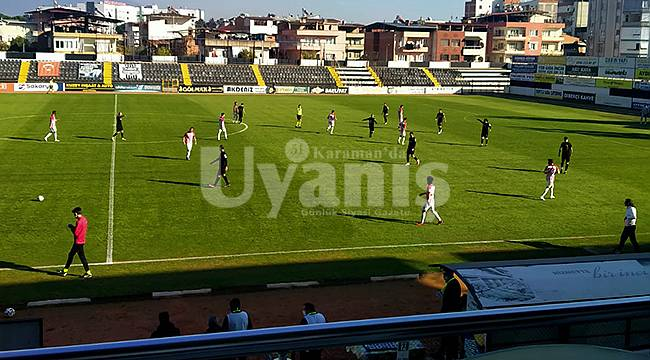Karaman Belediyespor İlk Yarıyı Galibiyetle Kapattı: 2-1