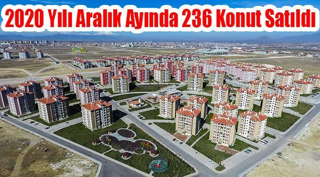 Karaman'da 2020 yılı Aralık ayında 236 konut satıldı