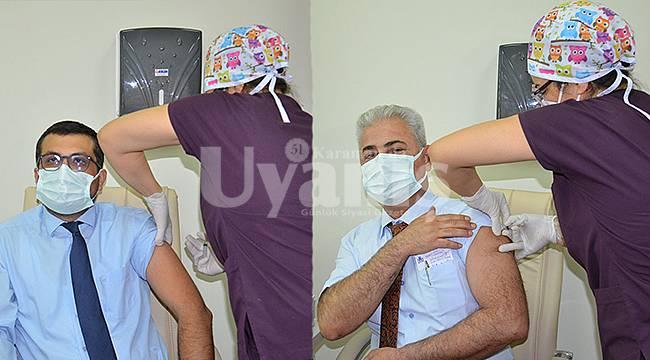 Karaman'da 4 bin 100 sağlık çalışanı aşılanacak