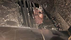 Karaman'da çıkan yangında depoda maddi hasar oluştu