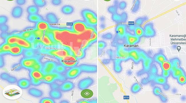 Karaman'da HES haritası maviye döndü