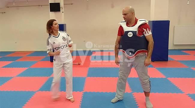 Karaman'da taekwondo antrenmanları devam ediyor