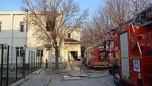 Karaman'da yatılı bakım merkezinde çıkan yangın korkuttu