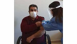 Kazımkarabekir İlçesi Entegre Hastanesi Çalışanları Covid-19 Aşısı Oldu
