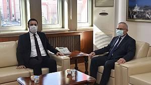 Cumhuriyet Başsavcısı İşlek'ten Rektör Ak'a hayırlı olsun ziyareti