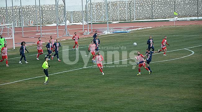 Karaman Belediyespor kendi evinde lidere 2-0 yenildi