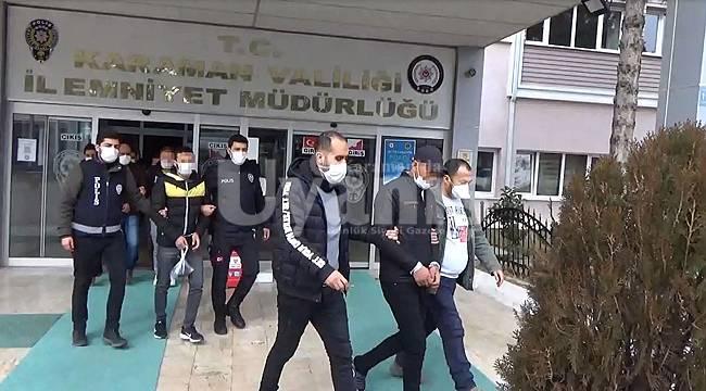 Karaman'da çeşitli suçlardan aranan 6 kişiden 5'i tutuklandı