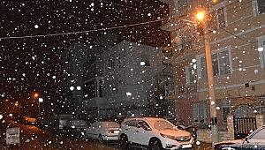 Karaman'da kar yağışı etkili oldu