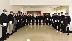 Vali Işık'tan Jandarma'ya Başarı Belgesi