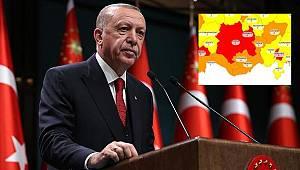 Erdoğan açıklamalardan bulundu, Karaman yüksek riskli iller arasında yer aldı