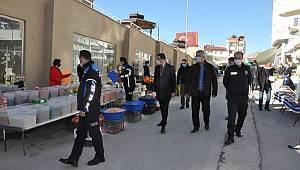 Ermenek ilçesinde pazar tezgahları kuruldu