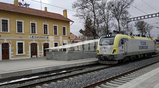 Karaman-Konya Arası Hızlı Tren Test Sürüşleri Tamam. Deneme Sürüşleri Başladı