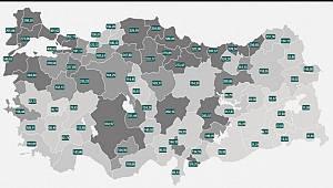 Vaka haritası güncellendi, Karaman'da korkutan artış