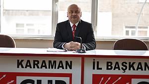 """CHP Karaman İl Başkanı Kağnıcı: """"Kısıtlamalar gerçekten sonuç verdi mi?"""""""