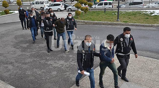 Karaman'da 9 şüpheli daha adliyeye sevk edildi
