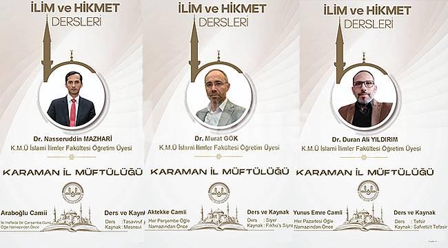 Karaman'da ilim ve hikmet dersleri başlıyor
