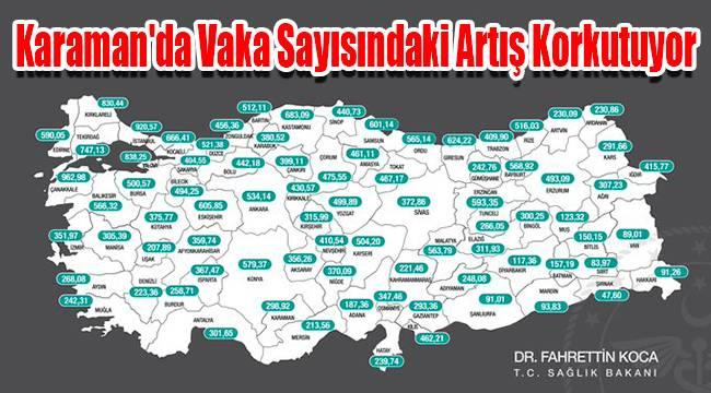Karaman'da vaka sayısındaki artış korkutuyor