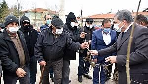 Karaman'da Vatandaşlara Fidan Dağıtıldı