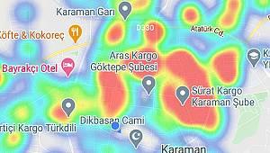 Karaman'ın risk haritası kırmızıya dönüyor