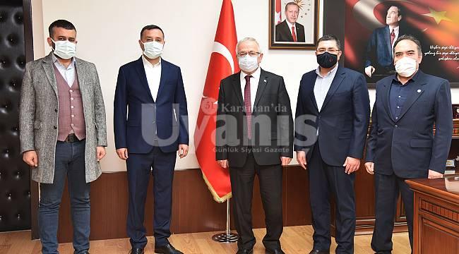MHP Heyetinden Rektör Namık Ak'a Ziyaret