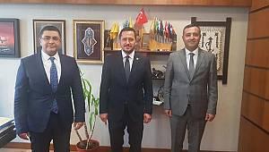 Ünüvar ve Şener'den Milletvekili Eser'e ziyaret