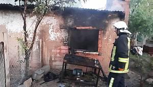 Depoda çıkan yangında maddi hasar oluştu
