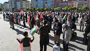 Karaman'da İsrail'in Mescid-i Aksa saldırıları protesto edildi