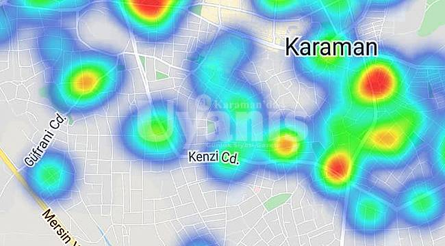 Karaman'da risk haritası kırmızıdan maviye dönüyor