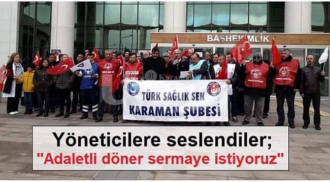 Türk Sağlık Sen Karaman Şubesi: