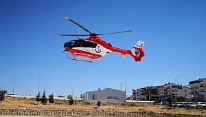 Ambulans Helikopter 86 Yaşındaki Hasta İçin Havalandı
