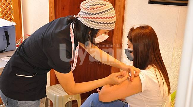 Karaman'da Aşı Randevusu Alamayanlar Da Aşılanmaya Başladı