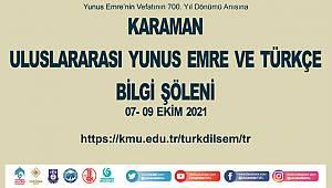 Karaman'da Uluslararası Yunus Emre Ve Türkçe Bilgi Şöleni Düzenlenecek